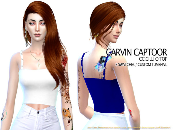 Gilli O Top by carvin captoor at TSR image 696 Sims 4 Updates