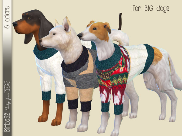Sims 4 Wool sweater for dogs by Birba32 at TSR