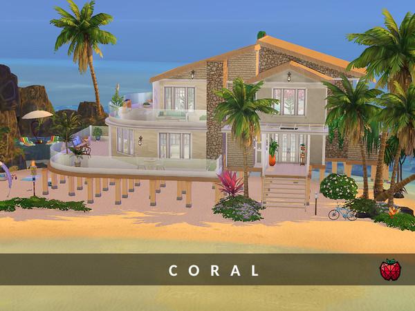 Sims 4 Coral house no cc by melapples at TSR