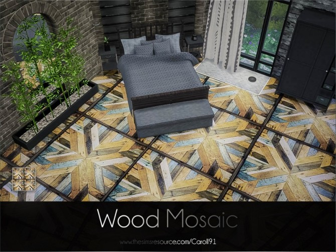 Wood Mosaic floor by Caroll91 at TSR image 7120 670x503 Sims 4 Updates