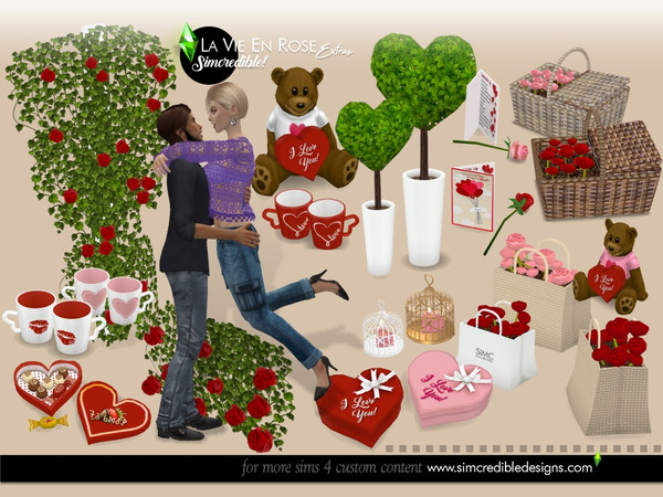La vie en rose extras by SIMcredible at TSR image 7211 Sims 4 Updates