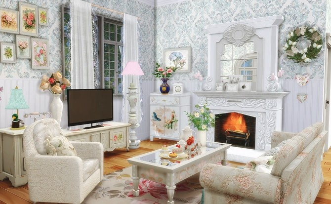 Shabby Chic Cottage at Vicky SweetBunny image 7213 670x413 Sims 4 Updates