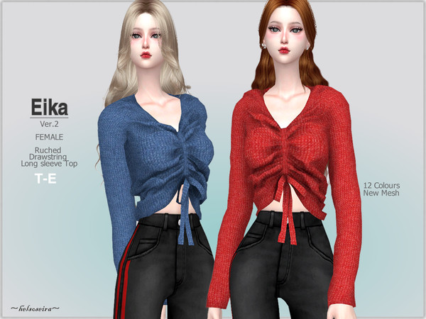 EIKA Ver.2 Long sleeve Sweater by Helsoseira at TSR image 736 Sims 4 Updates