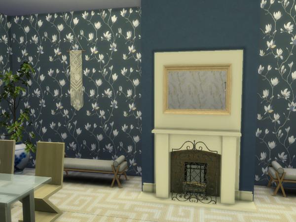 Sims 4 Magnolia Walls by lavilikesims at TSR