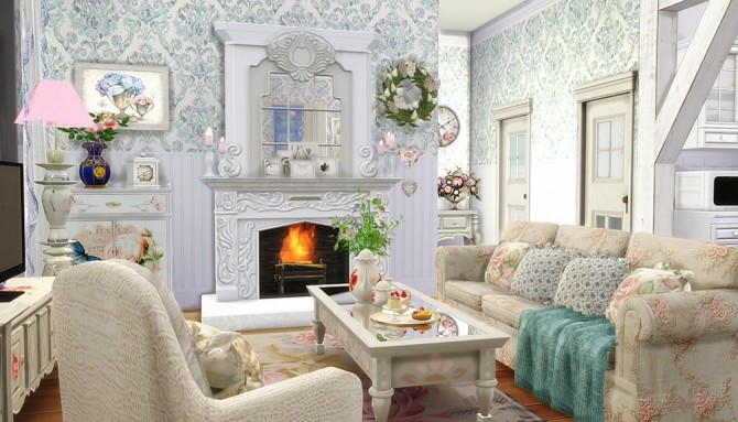 Sims 4 Shabby Chic Cottage at Vicky SweetBunny