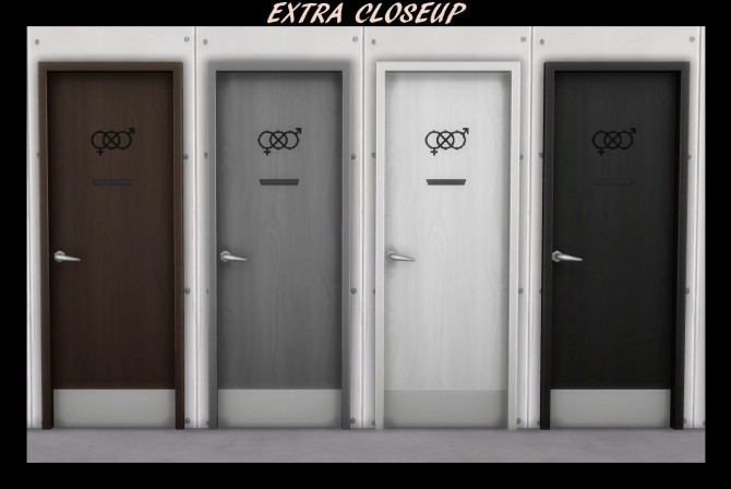 54 Gender Neutral Bathroom Doors by Simmiller at TSR image 7421 670x448 Sims 4 Updates