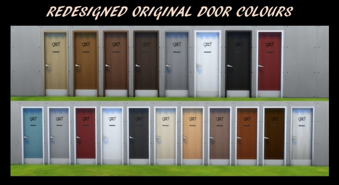 54 Gender Neutral Bathroom Doors by Simmiller at TSR image 7519 670x366 Sims 4 Updates