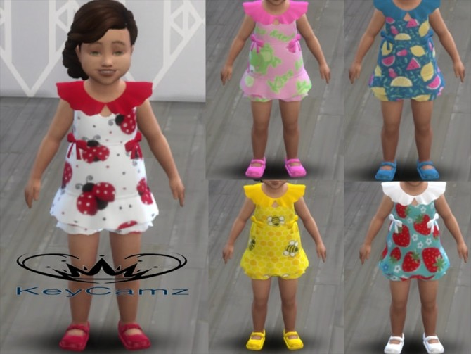 Sims 4 KeyCamz Toddler Outfit 1 by ErinAOK at TSR