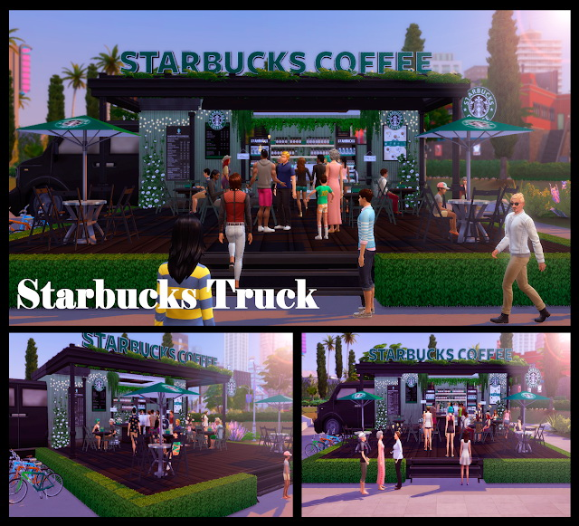 Starbucks Truck at Lily Sims image 783 Sims 4 Updates