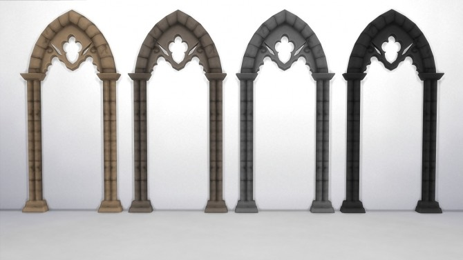Sims 4 Gothic Wall Arch by TheJim07 at Mod The Sims