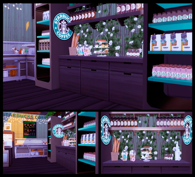 Sims 4 Starbucks Truck at Lily Sims
