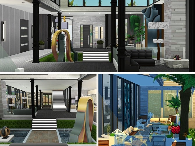 Sims 4 Bertha house no cc by melapples at TSR