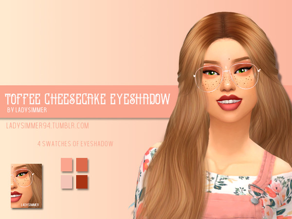 Sims 4 Toffee Cheesecake Eyeshadow by LadySimmer94 at TSR