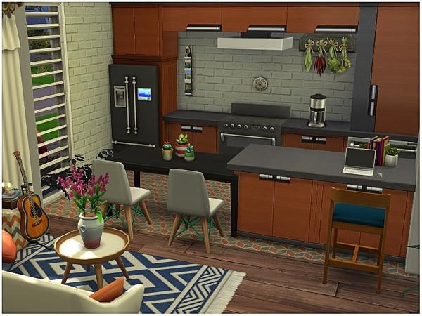 Sims 4 White Wood tiny house by lotsbymanal at TSR