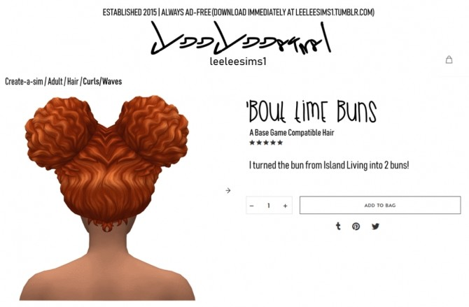 Bout Time Buns Hair at leeleesims1 image 8216 670x439 Sims 4 Updates