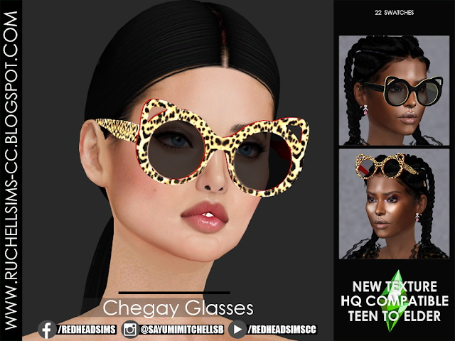 Chegay Glasses by Sayumi at Ruchell Sims image 8313 Sims 4 Updates