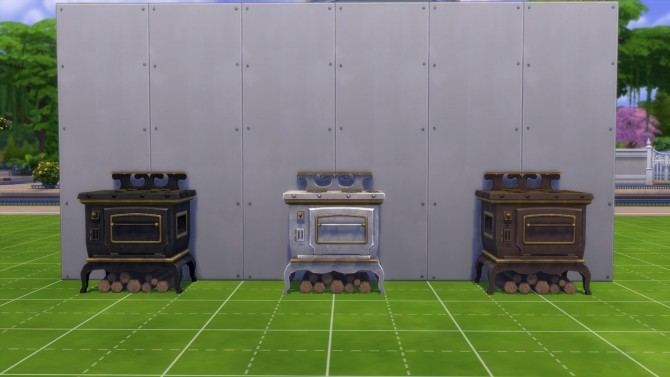 Auld Crow Wood Burning Cookstove Off the Grid by ElvinGearMaster at Mod The Sims image 862 670x377 Sims 4 Updates