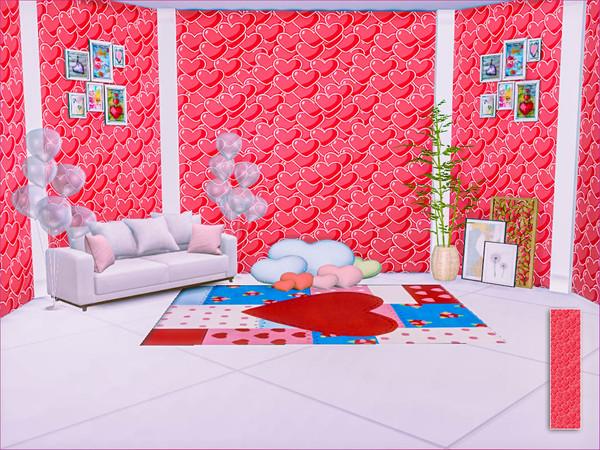 Sims 4 Hearts Wallpaper by Caroll91 at TSR