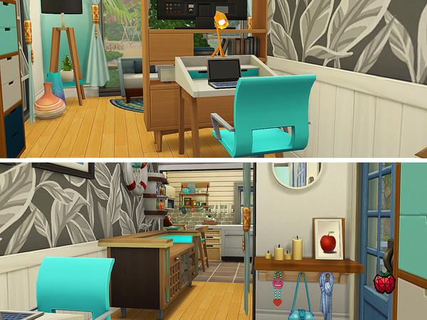 Sims 4 Annie small home no cc by melapples at TSR