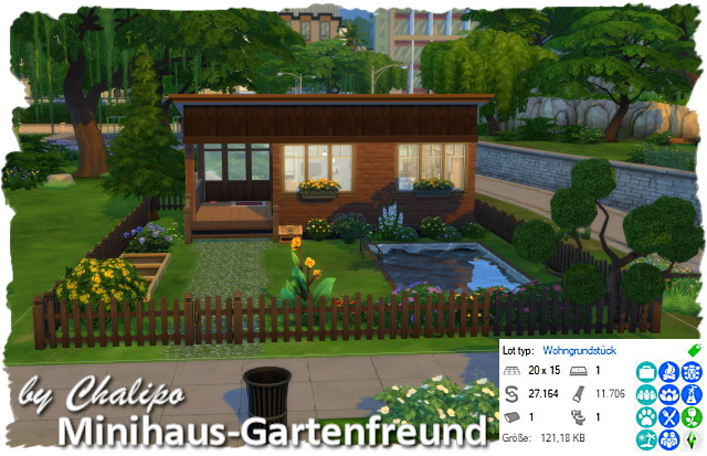 Sims 4 Mini house garden lover by Chalipo at All 4 Sims