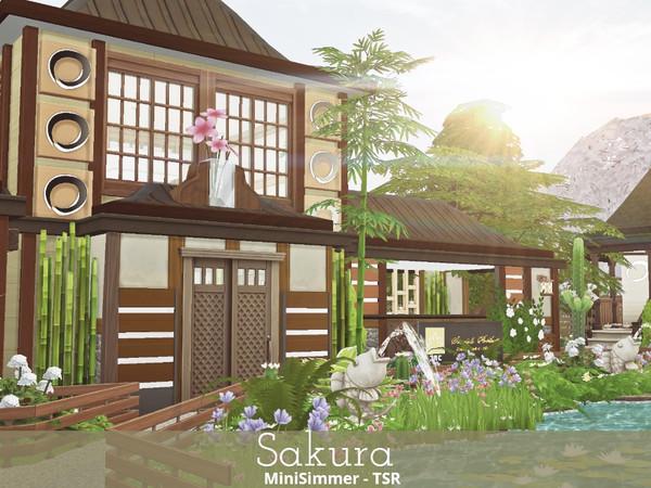 Sims 4 Sakura Japanese styled Spa by Mini Simmer at TSR