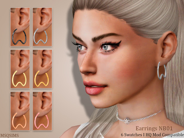 Sims 4 Earrings NB01 at MSQ Sims