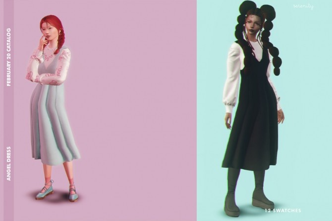 Sims 4 February Catalog 2020 dress & pumps at SERENITY