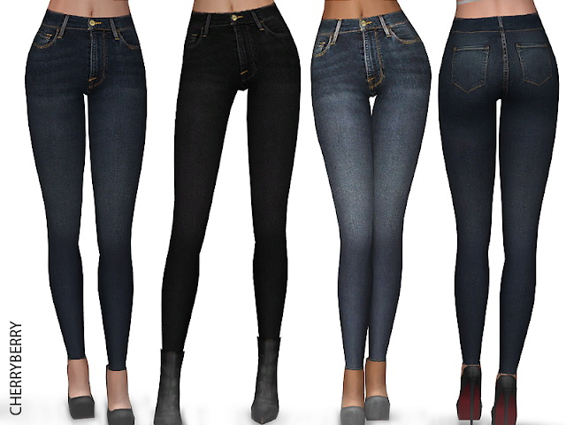 Classic Skinny Jeans at Cherryberry image 8913 Sims 4 Updates