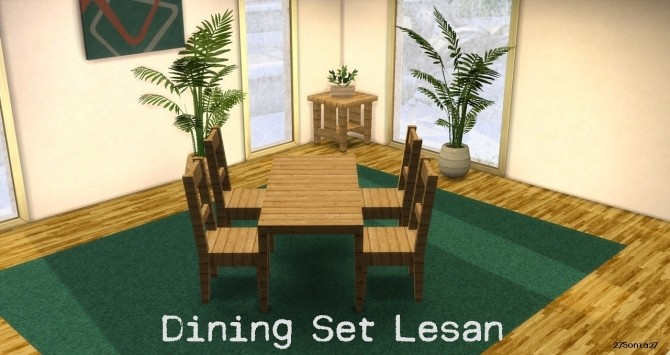 Sims 4 Dining Set Lesan at 27Sonia27