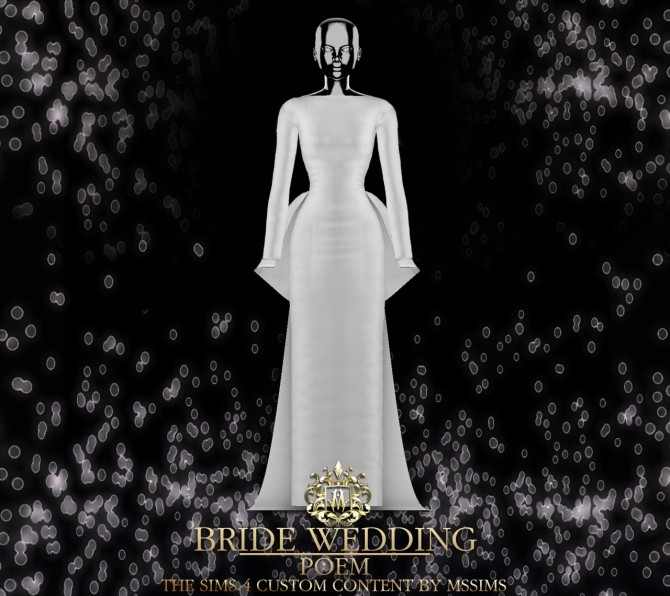 BRIDE WEDDING   POEM DRESS (P) at MSSIMS image 9410 670x596 Sims 4 Updates