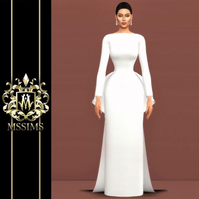 BRIDE WEDDING   POEM DRESS (P) at MSSIMS image 9510 670x671 Sims 4 Updates
