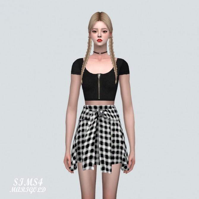 Sims 4 Tied Mini Skirt V2 at Marigold