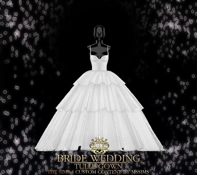 BRIDE WEDDING   TULLE GOWN (P) at MSSIMS image 9710 670x596 Sims 4 Updates
