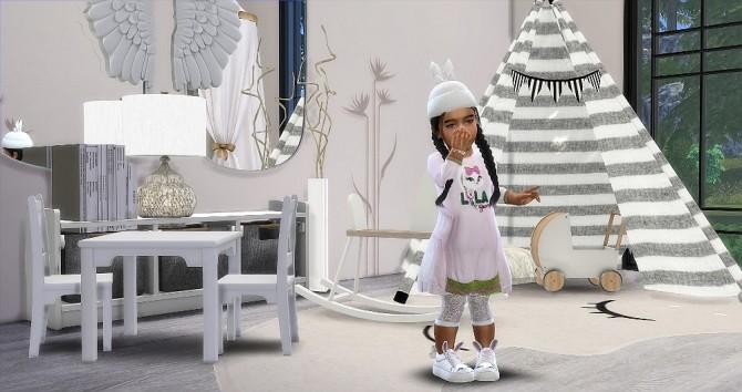 Sims 4 Designer Set: dress, shoes, hat at Sims4 Boutique