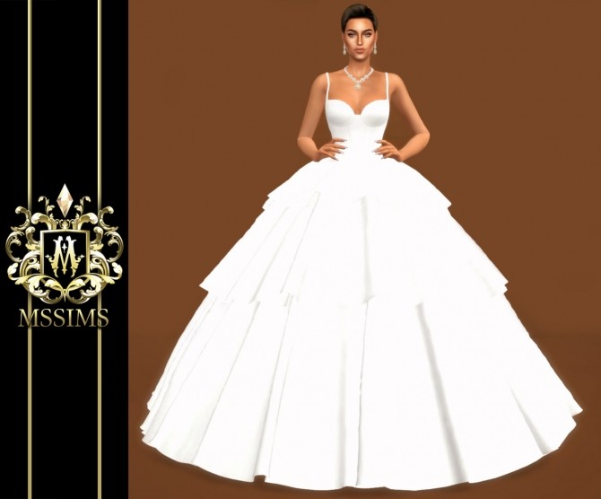 BRIDE WEDDING   TULLE GOWN (P) at MSSIMS image 9810 670x556 Sims 4 Updates
