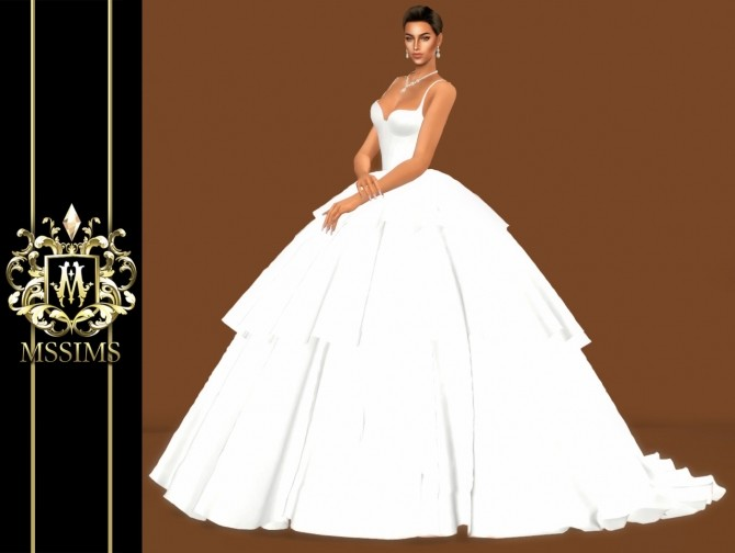 BRIDE WEDDING   TULLE GOWN (P) at MSSIMS image 999 670x504 Sims 4 Updates