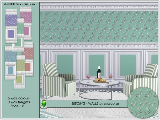 Sims 4 Seeding walls by marcorse at TSR