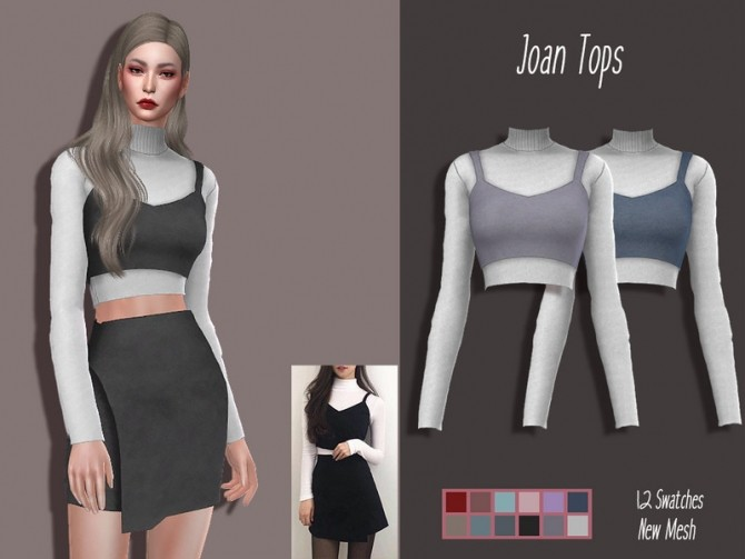 Sims 4 LMCS Joan Tops by Lisaminicatsims at TSR