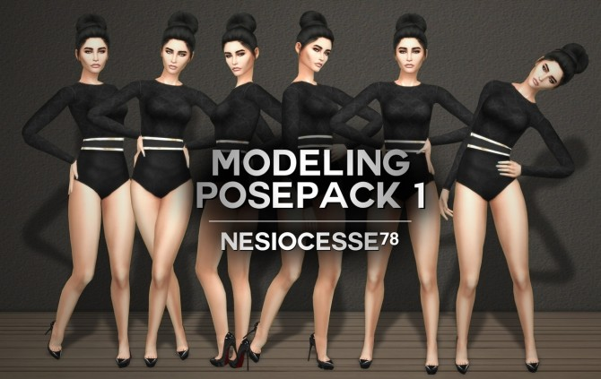 Sims 4 MODELING POSEPACK #01 at Nesiocesse78