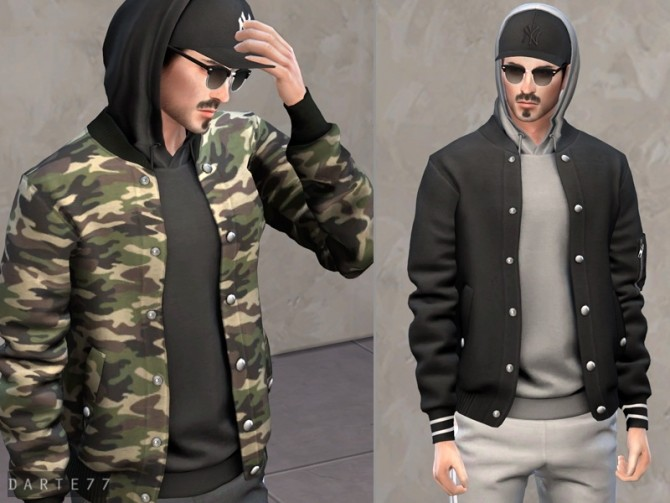 Bomber Jacket with Hoodie (Cap) at Darte77 image 10119 670x503 Sims 4 Updates