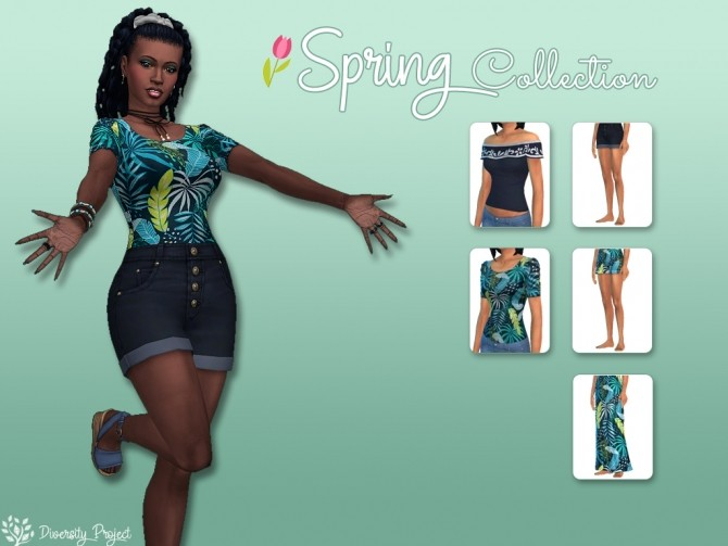 Sims 4 Spring Collection 2020 at Sims 4 Diversity Project