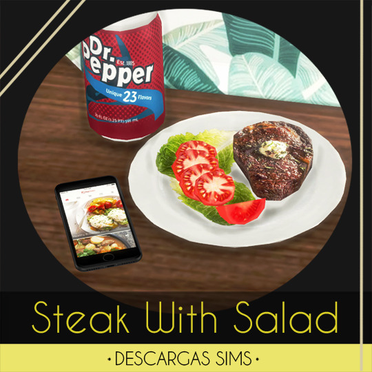 Sims 4 Steak With Salad at Descargas Sims