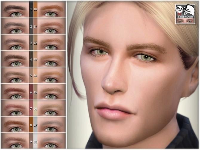 Sims 4 Eyebrows 12 by BAkalia at TSR