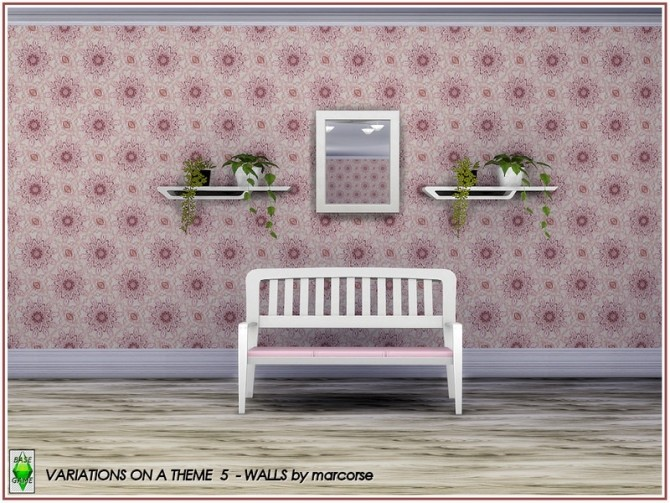 Sims 4 Variations on a Theme Walls by marcorse at TSR