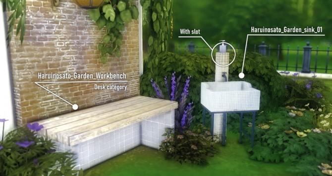 Sims 4 Garden Sink and Workbench at Haruinosato's CC