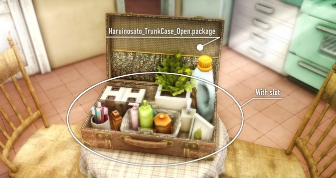 Sims 4 3 Types Trunk Case at Haruinosato's CC