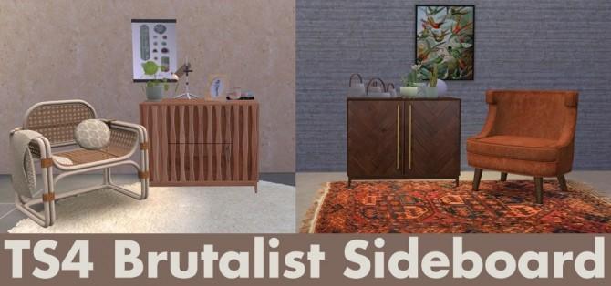 Sims 4 Brutalist sideboard at Riekus13