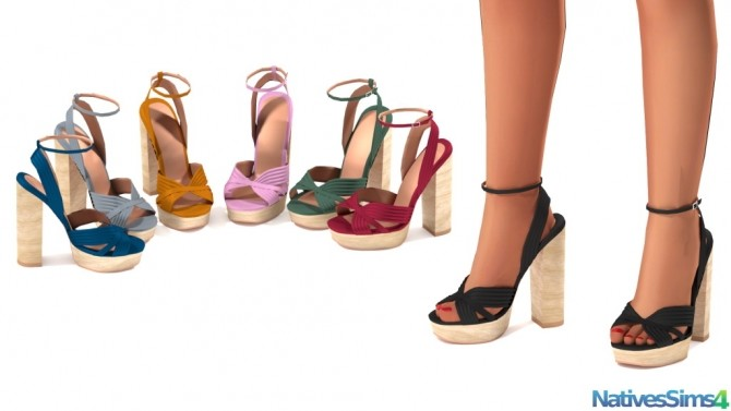 Sims 4 Wooden Sandals Recolor at Natives Sims 4