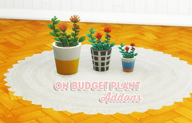 Sims 4 On budget plant addons at Lina Cherie