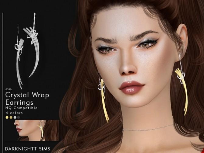 Sims 4 Crystal Wrap Earrings by DarkNighTt at TSR